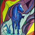 Blue Horse by Bine