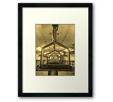 distant perception Framed Print