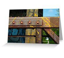 Pedestrian Bridge Detail Greeting Card