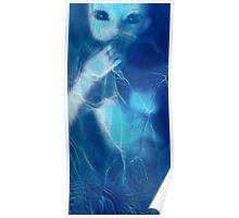 Mermaid Eyes in Moonlight Poster
