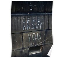 I Care About You Poster