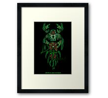 Green-Catcher Soul Play Framed Print