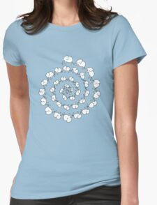 Elephant Dance Womens Fitted T-Shirt