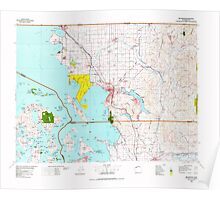 USGS Topo Map Washington State WA Bellingham 240004 1975 100000 Poster