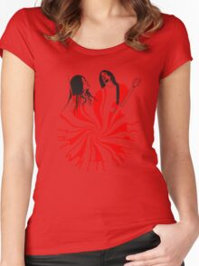 Candy Cane Children Women's Fitted Scoop T-Shirt