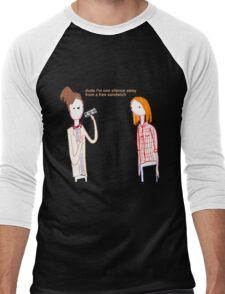 Silent Sandwich Men's Baseball ¾ T-Shirt