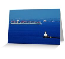 The Container Ship Greeting Card