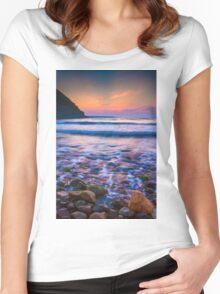 Rocks in sea Women's Fitted Scoop T-Shirt