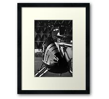 MD500 Helicopter in Hangar Framed Print