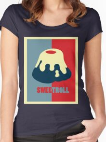 Believe In The Sweetroll Women's Fitted Scoop T-Shirt