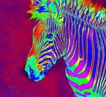 neon zebra iphone by jashumbert