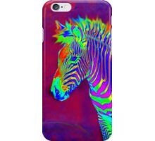 neon zebra iphone iPhone Case/Skin