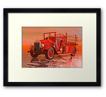 Antique Fire Engine Framed Print