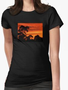 Sunrise Through the Trees Womens Fitted T-Shirt