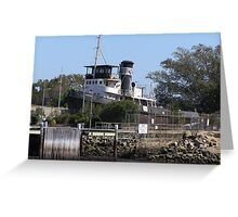 Tug Boat 'FEARLESS' IN DRY DOCK, Port Adelaide, Sth.Australia Greeting Card