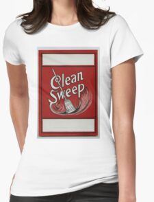 Clean Sweep Broom Label Womens Fitted T-Shirt