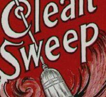 Clean Sweep Broom Label Sticker