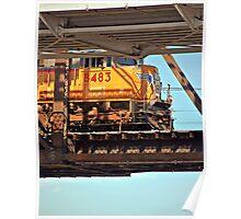 Suspended Locomotive Poster