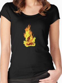 The Self-Immolation of Thích Quảng Ðức Women's Fitted Scoop T-Shirt