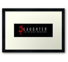 Slaughter Framed Print