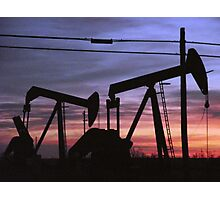 Pump Jacks in Hobbs New Mexico Photographic Print