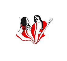 Jack and Meg White Photographic Print