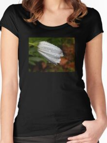 Petal Droplets Women's Fitted Scoop T-Shirt