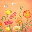 Poppies card by Laura Grogan