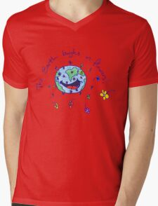 The Earth Laughs in Flowers Mens V-Neck T-Shirt