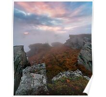 Carpathians in the clouds Poster