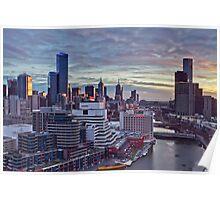 Sunrise Over Melbourne Poster