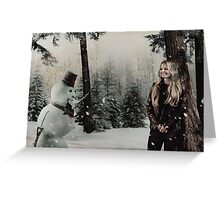 Christmas - Emma & The Snow Man Greeting Card