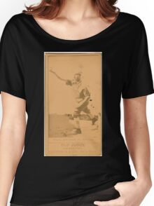 Benjamin K Edwards Collection Chas Brynan Chicago White Stockings baseball card portrait Women's Relaxed Fit T-Shirt