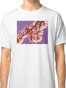 Pink Blossom Purple Sky Classic T-Shirt