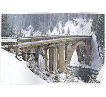 Rainbow Bridge over the Payette River Poster