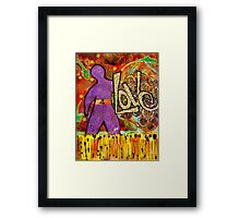 Race 4 LOVE Framed Print