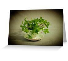 Tea Cup Ivy Greeting Card