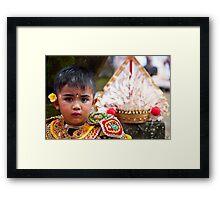 Young Baris Dancer Framed Print