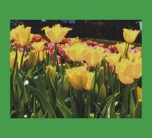 Yellow Tulip Field One Piece - Short Sleeve