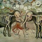 Irrelephant skeletons by Kate Gorrie