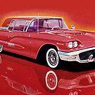 1958 Ford Thunderbird by brianrolandart