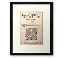 Hamlet Cover Framed Print