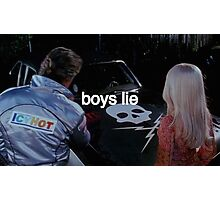 Boys Lie Photographic Print