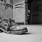 Shoe in an abandoned house by George Mastoridis