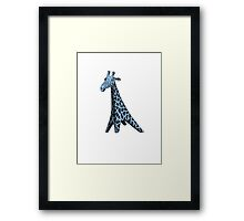 Blue Giraffe Framed Print