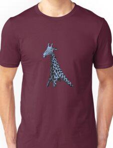 Blue Giraffe Unisex T-Shirt