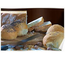 Assorted breads Poster