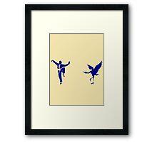 Crane Style Kung Fu Framed Print