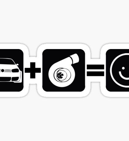 VW Golf MK4 Plus Boost Equals Smile Sticker