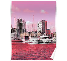 Magenta Regeneration, Ipswich Waterfront Poster